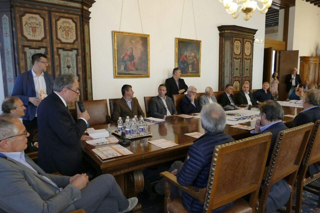 Ceccarelli, tra Urbani e Morandini, presenta Libertiadi