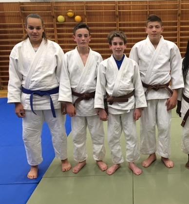 Da sinistra Tavano, Dri, Girardi e Piccinin