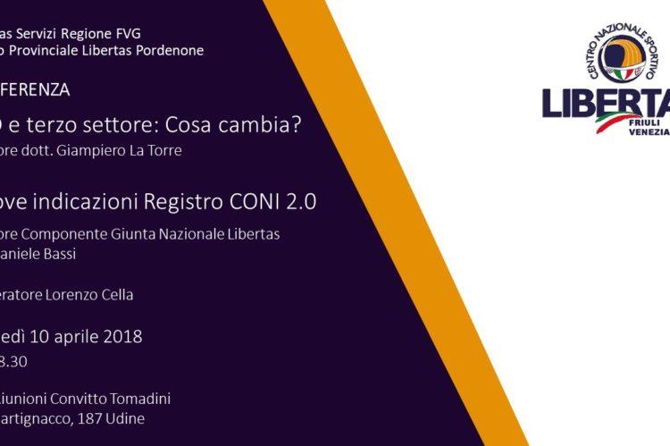 Convegno Terzo settore e iscrizione al Registro CONI 2.0