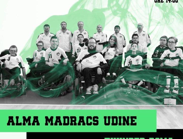 Powerchair hockey, Alma Madracs vs Thunder Roma: Ultima sfida casalinga