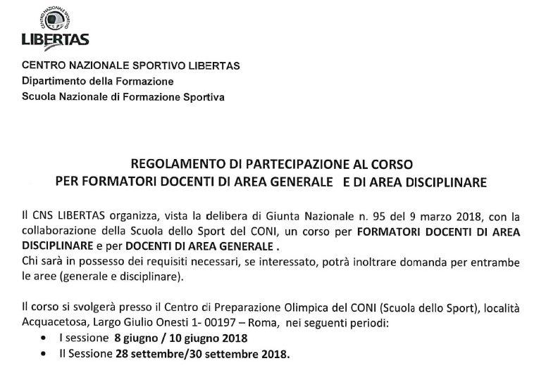 Corso per Formatori Docenti di Area Generale e di Area Disciplinare