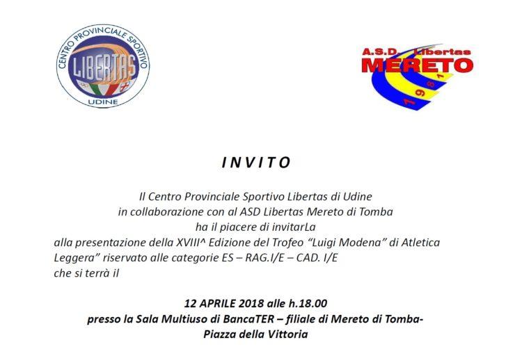 "conferenza stampa XVIII Trofeo ""Luigi Modena"""