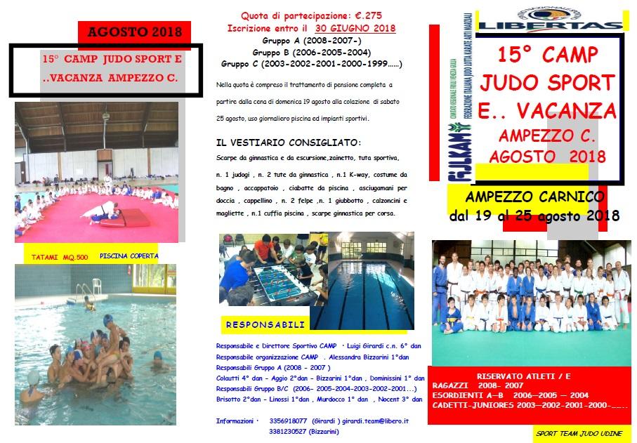 15° Camp Judo Sport e.. Vacanza