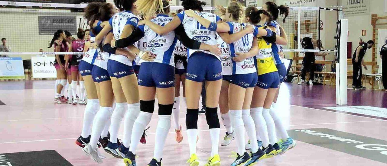 Volley, Itas Città Fiera – Caserta. Esordio in A2 vincente per le udinesi