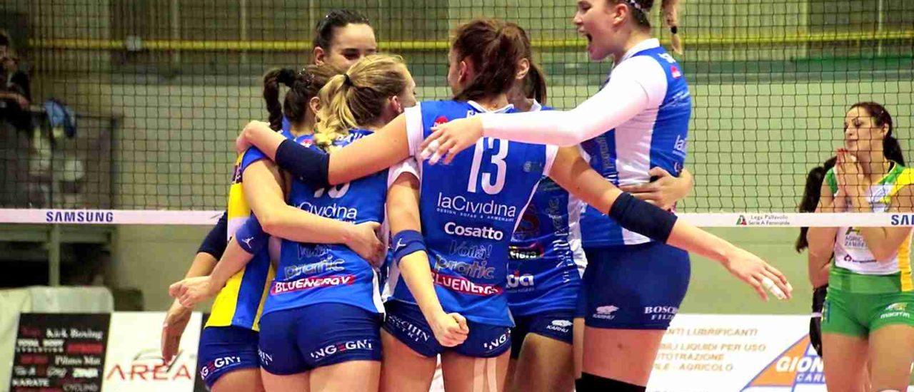 Volley, Itas Città Fiera – Acqua e Sapone Roma. Soffertissima vittoria per le ragazze di Gazzotti