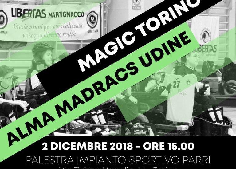 Powerchair hockey, Magic Torino – Alma Madracs Udine. Imperativo Vincere