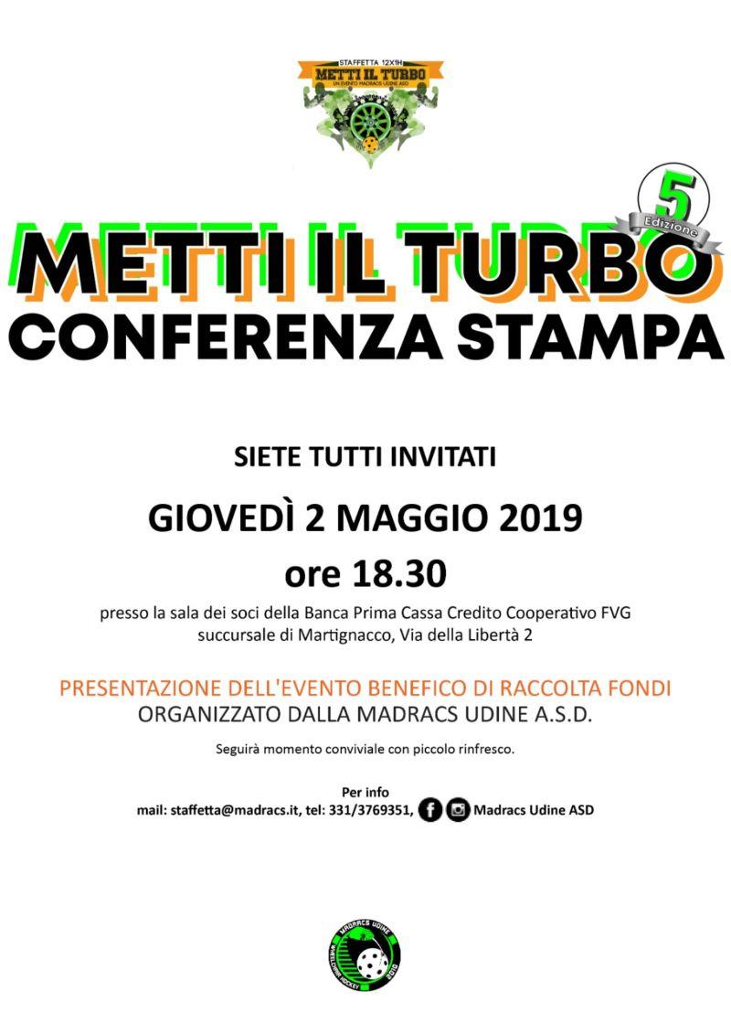 Conferenza stampa Metti il Turbo 2019