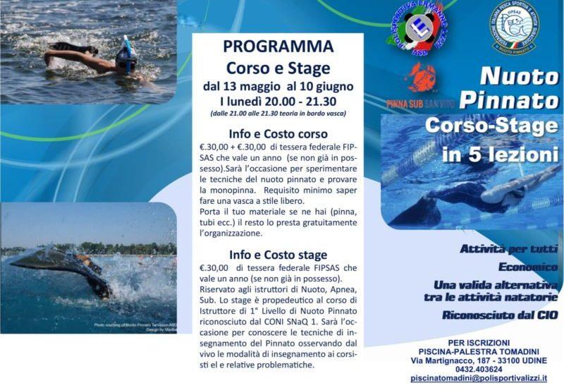 Parte il corso nuoto pinnato Udine