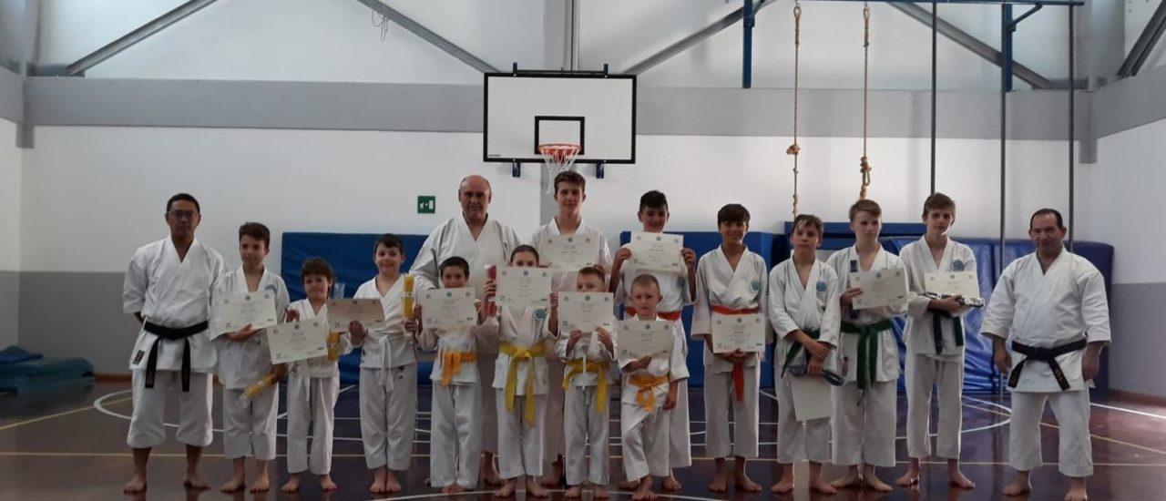 Gli esami di passaggio di cintura 2019 per la M. Nakayama karate