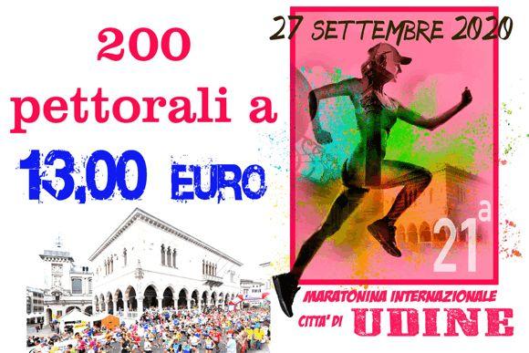 Tornail 27 settembre a Udine la 21ª Maratonina Internazionale